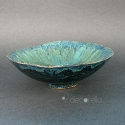 niebieska misa,dekoracyjna misa,miska - Ceramika i szkło - Wyposażenie wnętrz