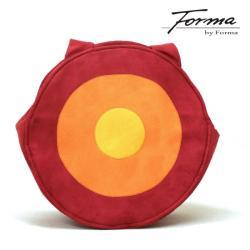torebka,na ramię,alcantara,koło,czerwony - Na ramię - Torebki