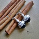 Kolczyki kolczyki,srebro,perły swarovski,