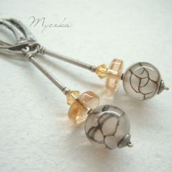 eleganckie,słoneczne,oksydowane,podłużne kolczyki - Kolczyki - Biżuteria