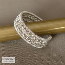 obrączka,pierścionek,srebro,wrapping - Pierścionki - Biżuteria