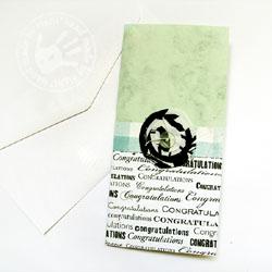 kartka hand made,gratulacje,kwiat,guzik - Kartki okolicznościowe - Akcesoria