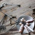 Naszyjniki srebro,medalion,łańcuch,perła biwa,oksyda