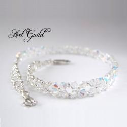 delikatny,romantyczy,elegancki naszyjnik ślubny - Naszyjniki - Biżuteria