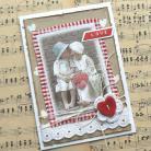 Kartki okolicznościowe kartka,walentynka,czerwony,retro