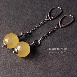 eleganckie kolczyki,długie,wiszące,jadeit - Kolczyki - Biżuteria