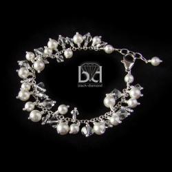 gronkowa bransoletka,grona swarovski - Bransoletki - Biżuteria