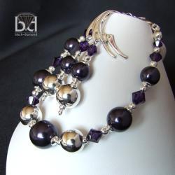 komplet z perłami swarovski - Komplety - Biżuteria