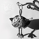 Inne brelok,ptaszek,czarno-biały,oryginalny