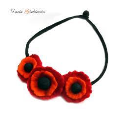 filc,filcowany,kwiat,kwiatowy,naszyjnik,prezent - Naszyjniki - Biżuteria