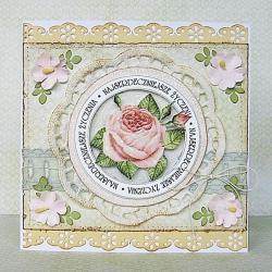 kartka,romantyczna,kobieca,kwiaty,pastele - Kartki okolicznościowe - Akcesoria