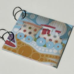 folder cd dla chłopca,pociąg,patchwork - Dla dzieci - Akcesoria