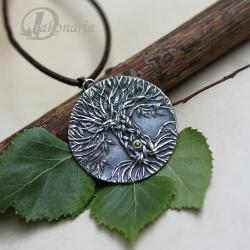 drzewo,natura,ekologia,liście,zielony - Wisiory - Biżuteria