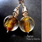 Kolczyki kolczyki z Murano,szkło weneckie,bali,złoto