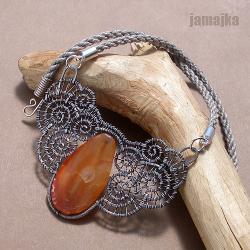 ażurowy,pleciony,sznurek - Naszyjniki - Biżuteria