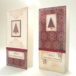choinka,Boże Narodzenie,kartka - Kartki okolicznościowe - Akcesoria