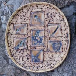 patera,ceramika,unikat,z natury,na owoce - Ceramika i szkło - Wyposażenie wnętrz