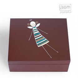 anamarko,pudełko,herbatnica,aniołek - Herbatnice - Wyposażenie wnętrz