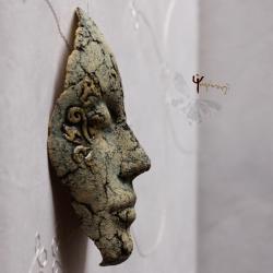 maska,ceramika,unikat,rękodzieło - Ceramika i szkło - Wyposażenie wnętrz