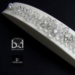 bransoleta swarovski,gronkowa bransoleta - Bransoletki - Biżuteria