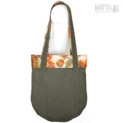torba na lato,pomarańczowe kwiaty - Na ramię - Torebki