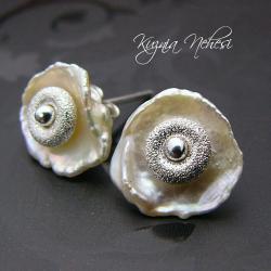wkrętki,z perłą - Kolczyki - Biżuteria
