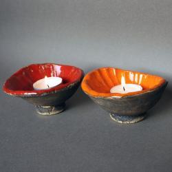 ceramika,na świecę,świeczniki - Ceramika i szkło - Wyposażenie wnętrz