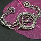 Bransoletki srebrna bransoletka,wire-wrapping,