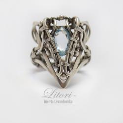 wrapping,srebro,pierścień,biżuteria,litori - Pierścionki - Biżuteria
