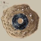 Ceramika i szkło misa,ceramika,ażur,misterna forma,szkło,spirala