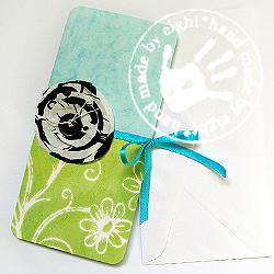 kartka,kwiat,wiosenna kartka okolicznościowa - Kartki okolicznościowe - Akcesoria