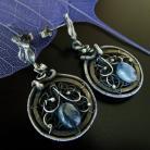 Kolczyki kyanit,kolczyki,niebieski,wire-wrapping,srebro