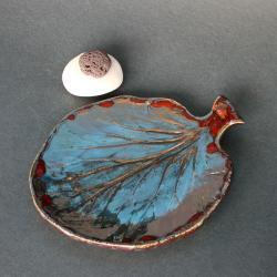 liść,podstawka,ceramika,na świecę,dekoracja - Ceramika i szkło - Wyposażenie wnętrz