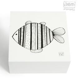 pudełko,szkatułka,ryba,rybka,anamarko - Pudełka - Wyposażenie wnętrz