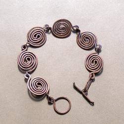 miedziana,kuta,oksydowana,spiralki - Bransoletki - Biżuteria