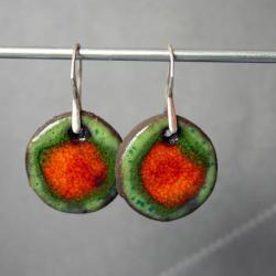 kolczyki ceramiczne,kolczyki zielone - Kolczyki - Biżuteria