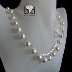 Naszyjnik ślubny z perłami Swarovski - Naszyjniki - Biżuteria