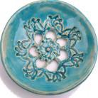 Ceramika i szkło turkusowa mydelniczka,naczynie,ozdoba,na mydło