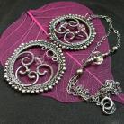 Naszyjniki srebro,oksydowane,wrapping,naszyjnik,wisior