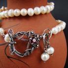 Komplety srebro,perły,oksydowany,wire-wrapping,eleganckie