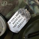 Wisiory wojskowy,nieśmiertlenik,militarny,kwiaty,cytat
