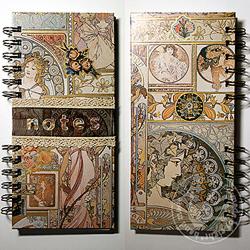 notes,mucha,art nouveau,koronka - Notesy - Akcesoria