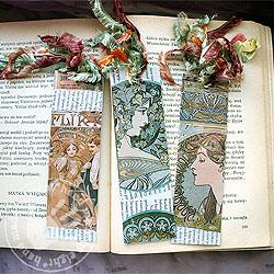 komplet zakładek do książek,Alfons Mucha - Komplety - Akcesoria