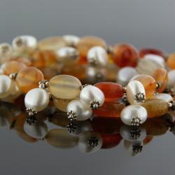 korale,naszyjnik,unikat - Naszyjniki - Biżuteria
