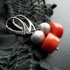 Kolczyki srebrne,oksydowane,modne,kolczyki
