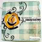Kartki okolicznościowe kartka,ręcznie robiona,gratulacje,turkusowa,kwiat