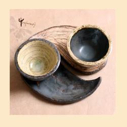 filiżanki,prezent,jin jang,ceramika,dla dwojga - Ceramika i szkło - Wyposażenie wnętrz