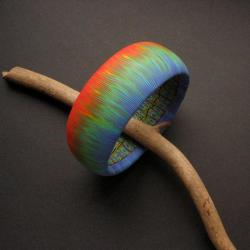 fiann,handmade,kolorowa bransoleta - Bransoletki - Biżuteria
