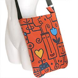 torba na skos,kolorowa torba,graficzny wzór - Na ramię - Torebki