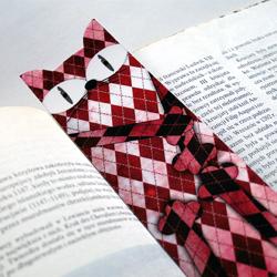 zakładka do książki z kotem,laminowana - Zakładki do książek - Akcesoria